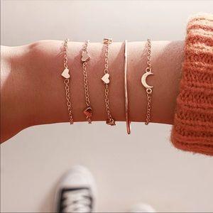 Jewelry - HEART ♡ Bracelet 5 pcs SET